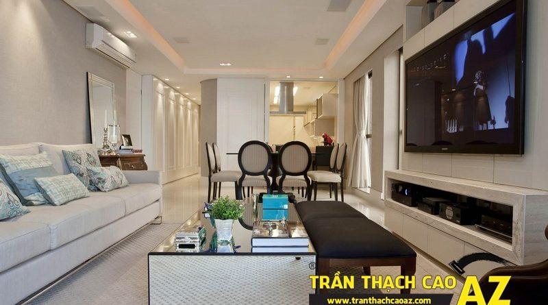 Cách tạo hình trần thạch cao dành riêng cho căn hộ chung cư nhỏ