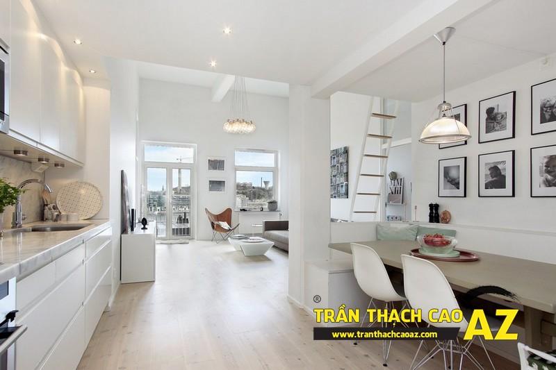Chọn thiết kế trần thạch cao dựa trên đặc điểm diện tích không gian
