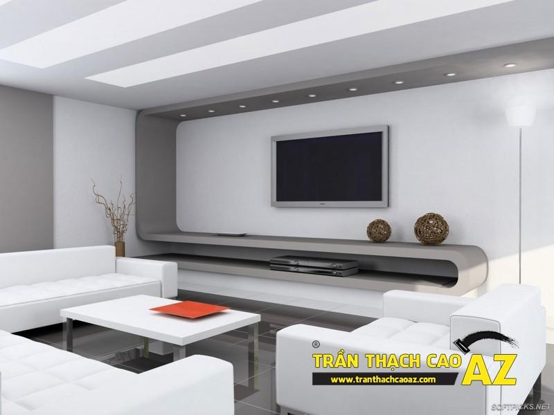 Trần thạch cao đơn giản mà đẹp cho không gian nhà nhỏ 02