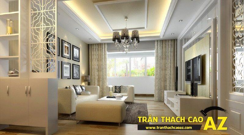 Trần thạch cao đơn giản mà đẹp cho không gian nhà nhỏ