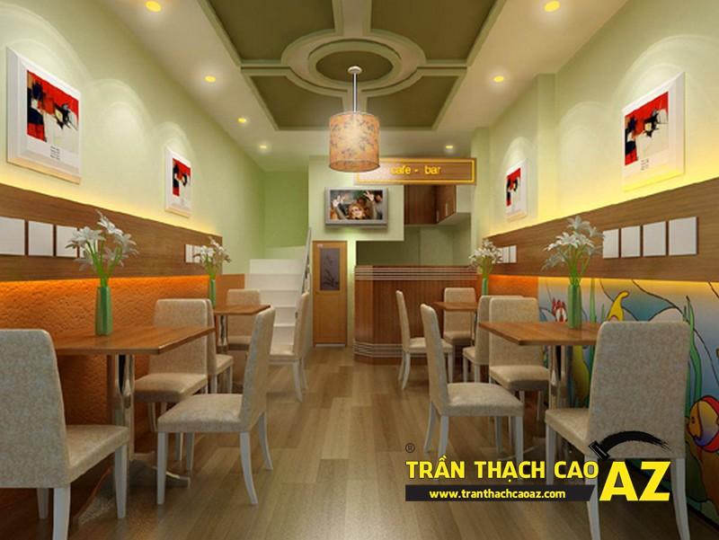 Trần thạch cao mang lại phong cách độc đáo cho quán cà phê
