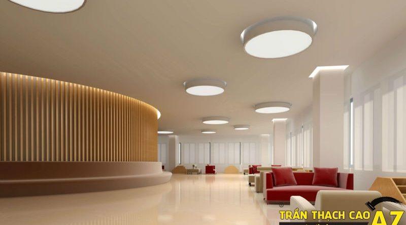 Trần thạch cao nổi và chìm: kiểu nào phù hợp làm trần thạch cao văn phòng?