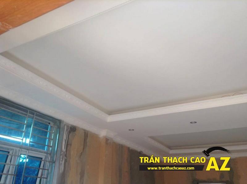 Đập tan nét thênh thang, dàn trải như thiết kế trần thạch cao phòng khách rộng nhà anh Huân 04