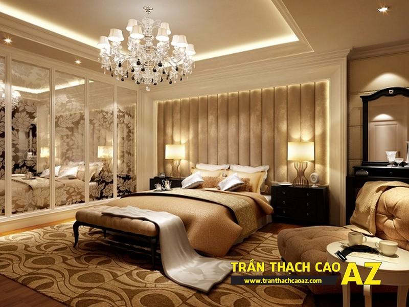 Trần thạch cao phòng ngủ cổ điển đầy lôi cuốn