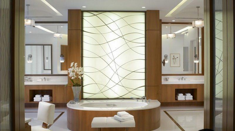 Trần thạch cao phòng tắm đẹp như spa