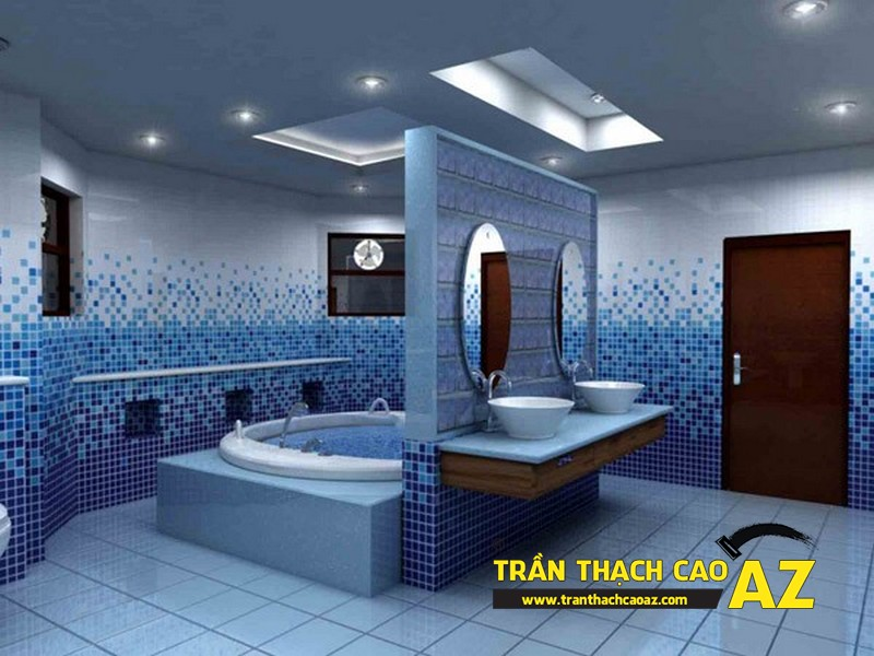 Trần thạch cao phòng tắm hợp phong thủy