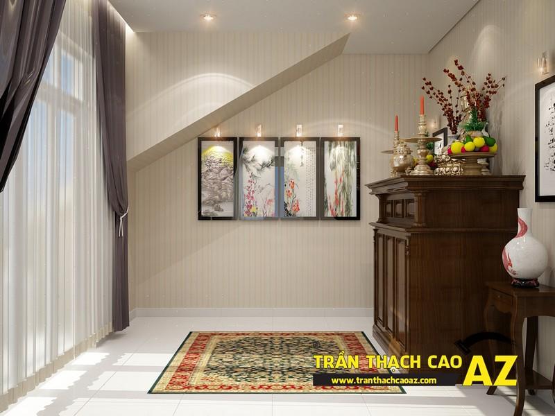 Thiết kế trần thạch cao phòng thờ ở không gian riêng biệt