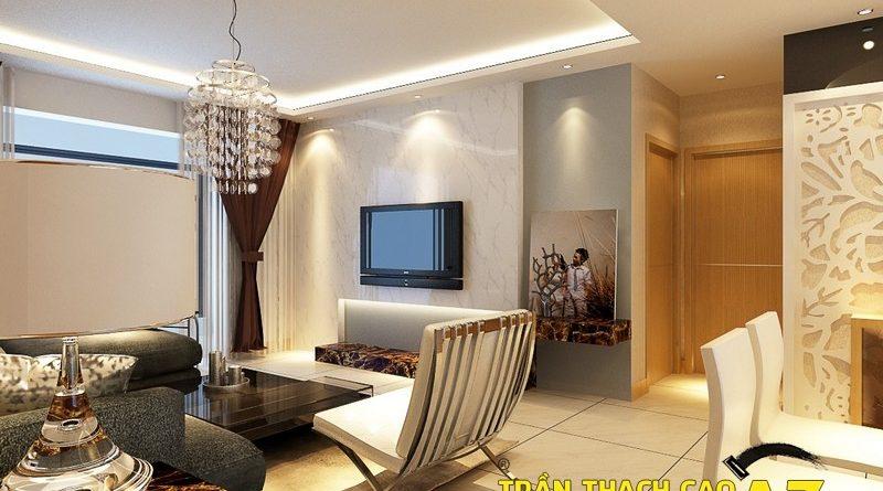 Không gian sống đẹp khác biệt nhờ tạo hình trần thạch cao tầng áp mái chung cư