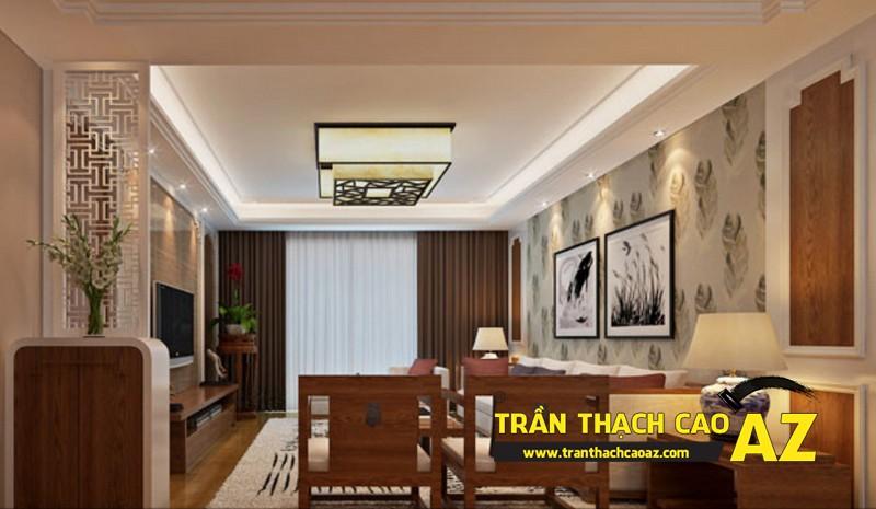 Không gian sống đẹp khác biệt nhờ tạo hình trần thạch cao tầng áp mái chung cư 03