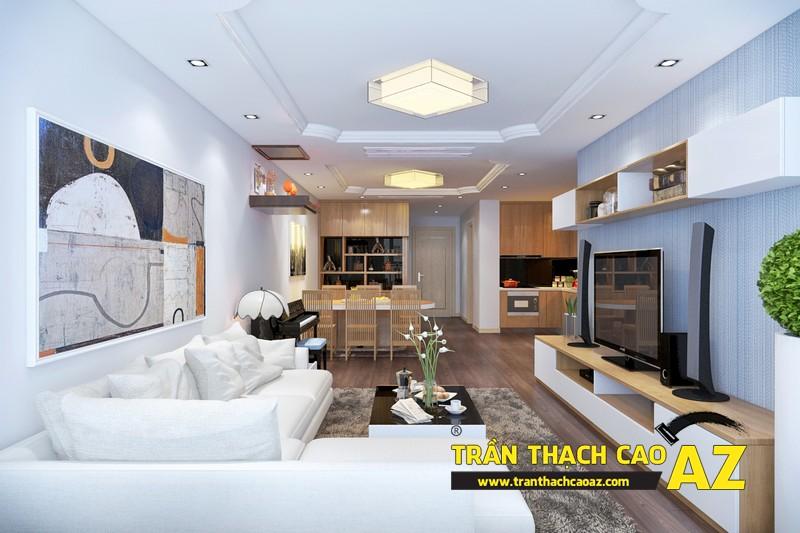 Xu hướng làm trần thạch cao nối liền không gian - kiểu thiết kế của phong cách hiện đại