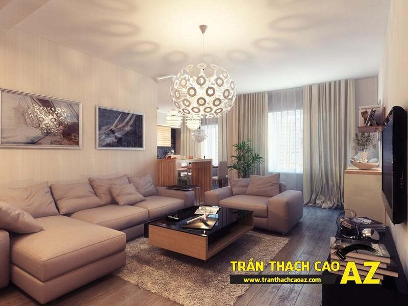 Xu hướng làm trần thạch cao phòng khách đơn giản mà đẹp