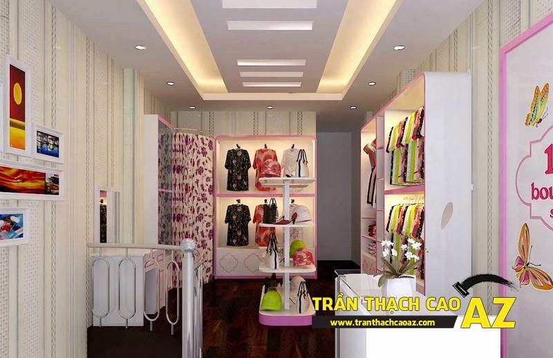 Những yếu tố quyết định thành công của thiết kế trần thạch cao shop thời trang 01