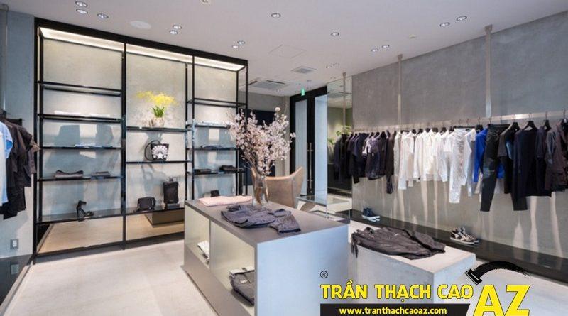 Những yếu tố quyết định thành công của thiết kế trần thạch cao shop thời trang