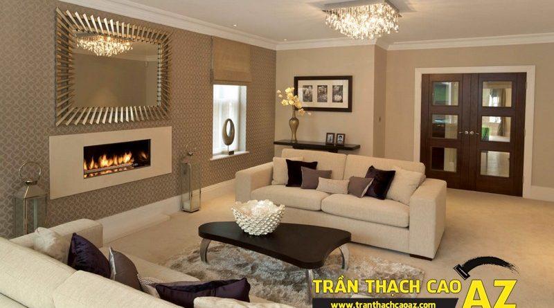 Báo giá làm trần thạch cao phòng khách mới nhất theo m2