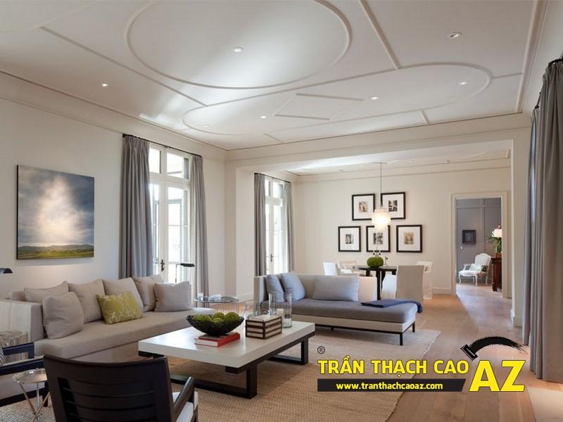 Báo giá làm trần thạch cao phòng khách mới nhất theo m2 - 02