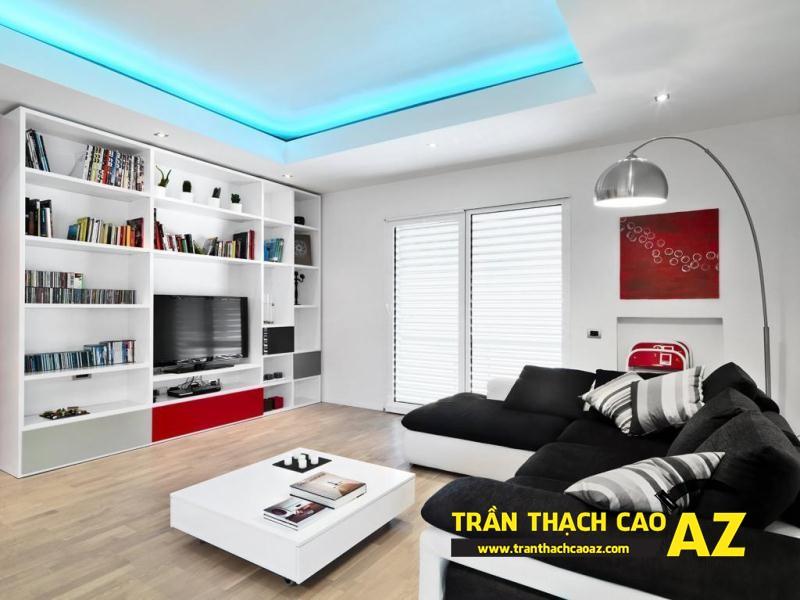 """Cách thiết kế trần thạch cao đảm bảo độ """"thở"""" không gian nhà hẹp 02"""