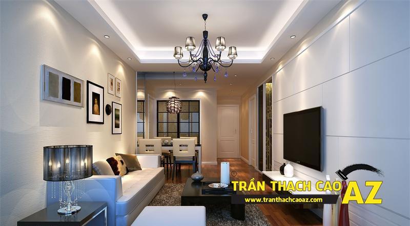 Cách chọn đèn led hắt sáng cho trần thạch cao giật cấp phòng khách nhỏ 04