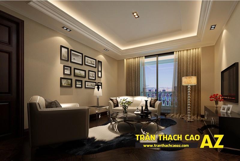 Cách chọn đèn led hắt sáng cho trần thạch cao giật cấp phòng khách nhỏ 02