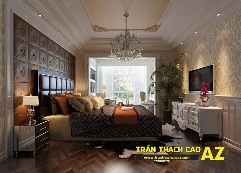 Đèn trần thạch cao phòng khách biệt thự dành cho không gian phòng ngủ 02