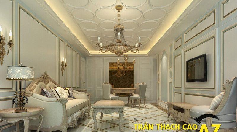 Nguyên tắc chọn thiết kế đèn chùm trần thạch cao phòng khách ấn tượng
