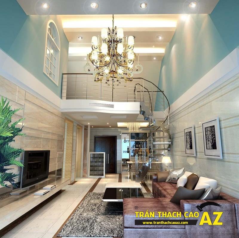 Nguyên tắc chọn thiết kế đèn chùm trần thạch cao phòng khách ấn tượng 02