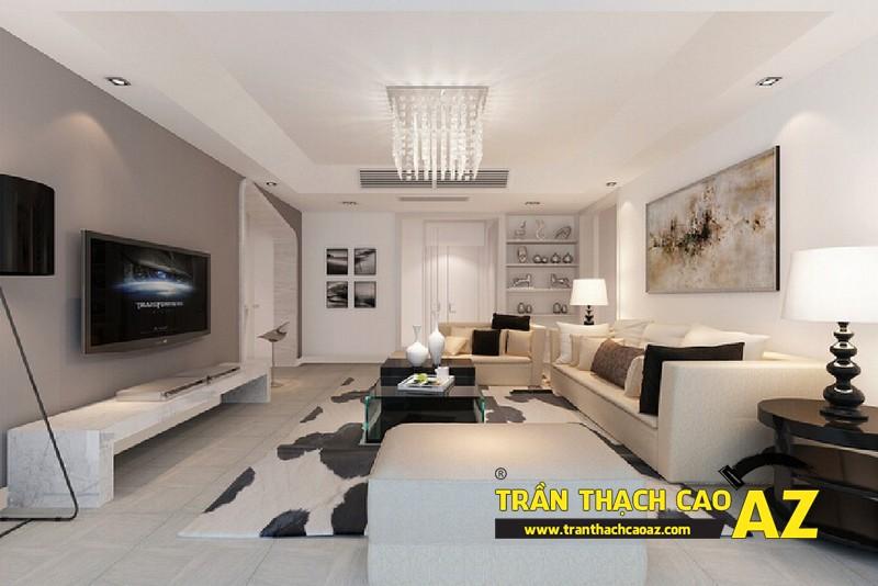 Nguyên tắc chọn thiết kế đèn chùm trần thạch cao phòng khách ấn tượng 04