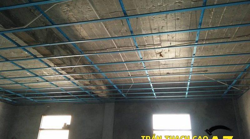 Đi khung xương trần thạch cao trụ sở bảo hiểm thị xã Phúc Yên, Vĩnh Phúc