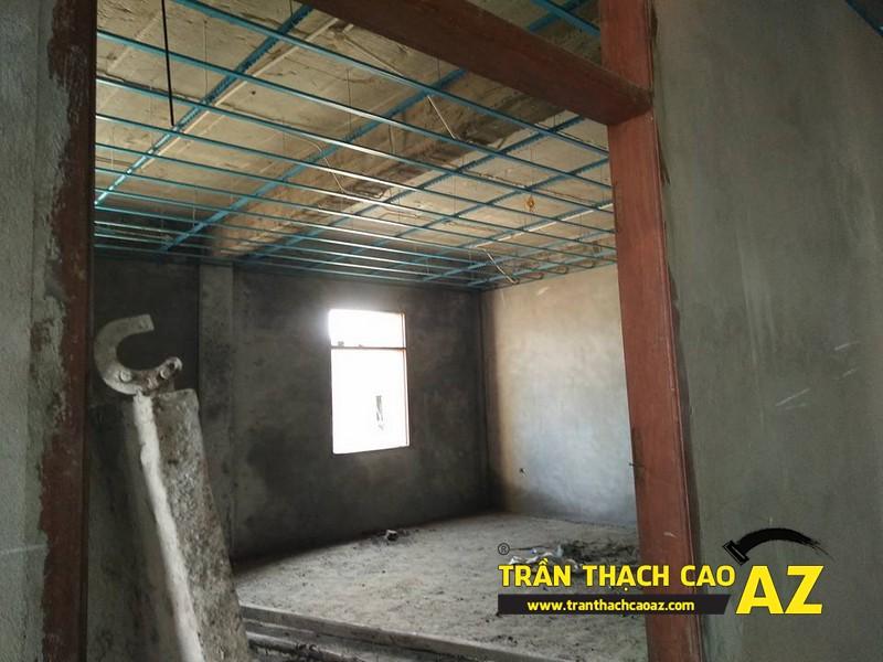 Thi công đi khung xương trần thạch cao trụ sở bảo hiểm thị xã Phúc Yên 04