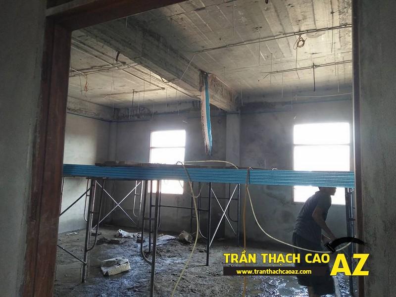 Thi công đi khung xương trần thạch cao trụ sở bảo hiểm thị xã Phúc Yên 01