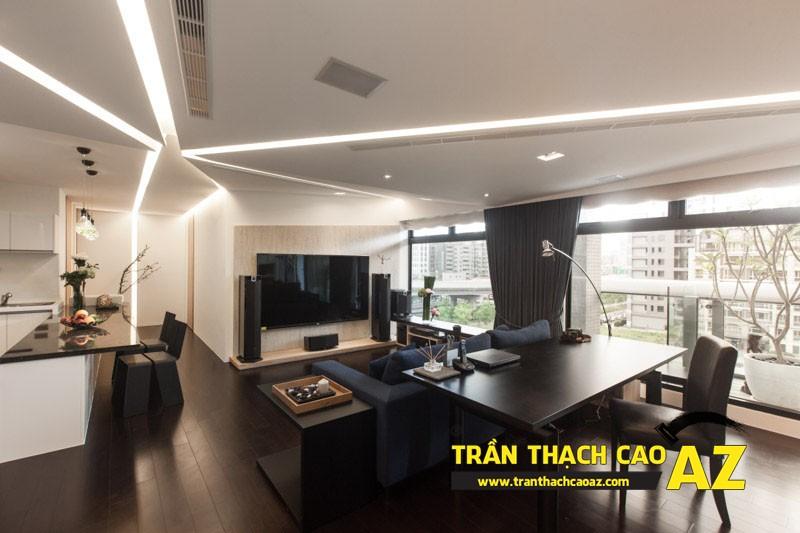 Cách dùng trần thạch cao hóa giải phong thủy xấu khi thiết kế nội thất 01