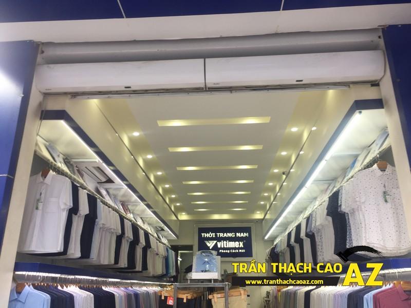 Hoàn thiện thi công trần thạch cao cho cửa hàng quần áo Vitimex, Phủ Lý, Hà Nam