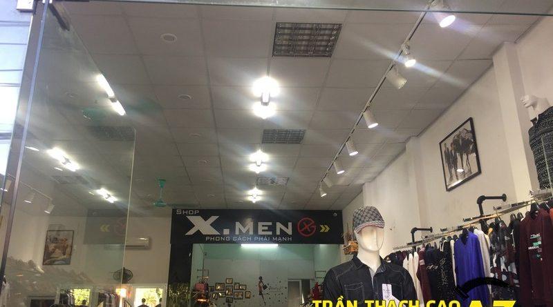 Hoàn thiện thi công trần công trần thạch cho shop quần áo Xmen tại Phủ Lý, Hà Nam