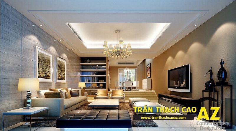 Nhận làm trần thạch cao phòng khách đẹp giá rẻ tại Hà Nội