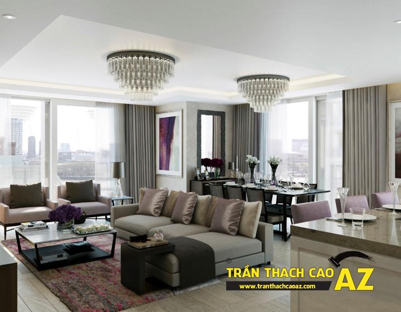 Nhận làm trần thạch cao phòng khách đẹp giá rẻ tại Hà Nội 03