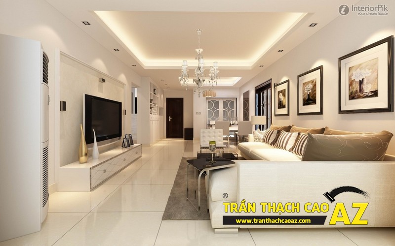 Nhận làm trần thạch cao phòng khách đẹp giá rẻ tại Hà Nội 01