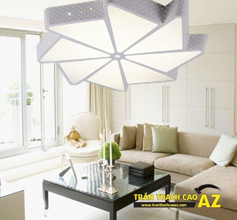 Mẫu đèn chùm trần thạch cao đẹp dành riêng cho trần đơn giản 05
