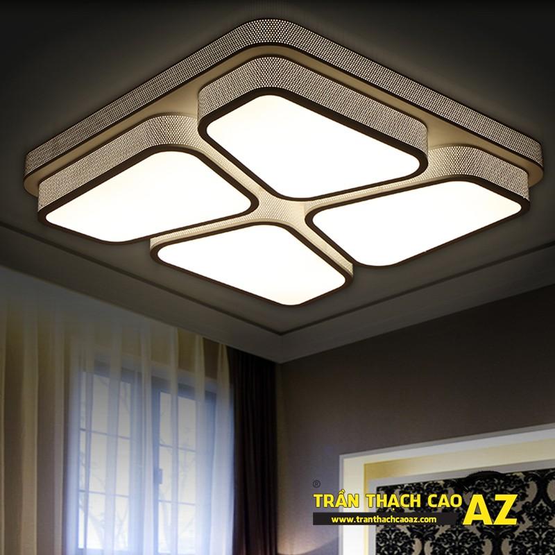 Mẫu đèn chùm trần thạch cao đẹp dành riêng cho trần đơn giản 03