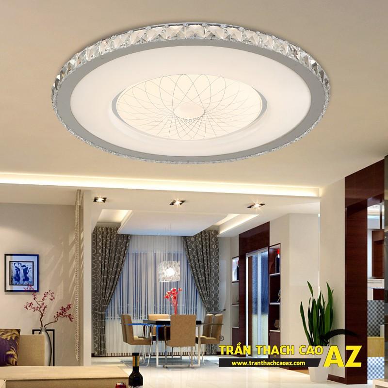 Mẫu đèn chùm trần thạch cao đẹp dành riêng cho trần đơn giản 07