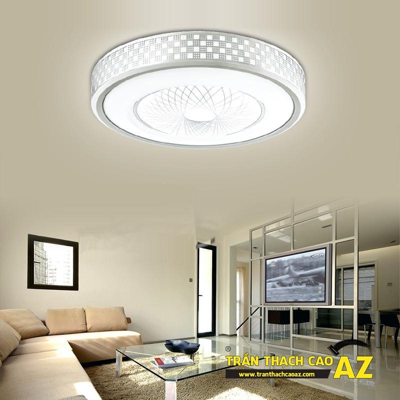 Mẫu đèn chùm trần thạch cao đẹp dành riêng cho trần đơn giản 06