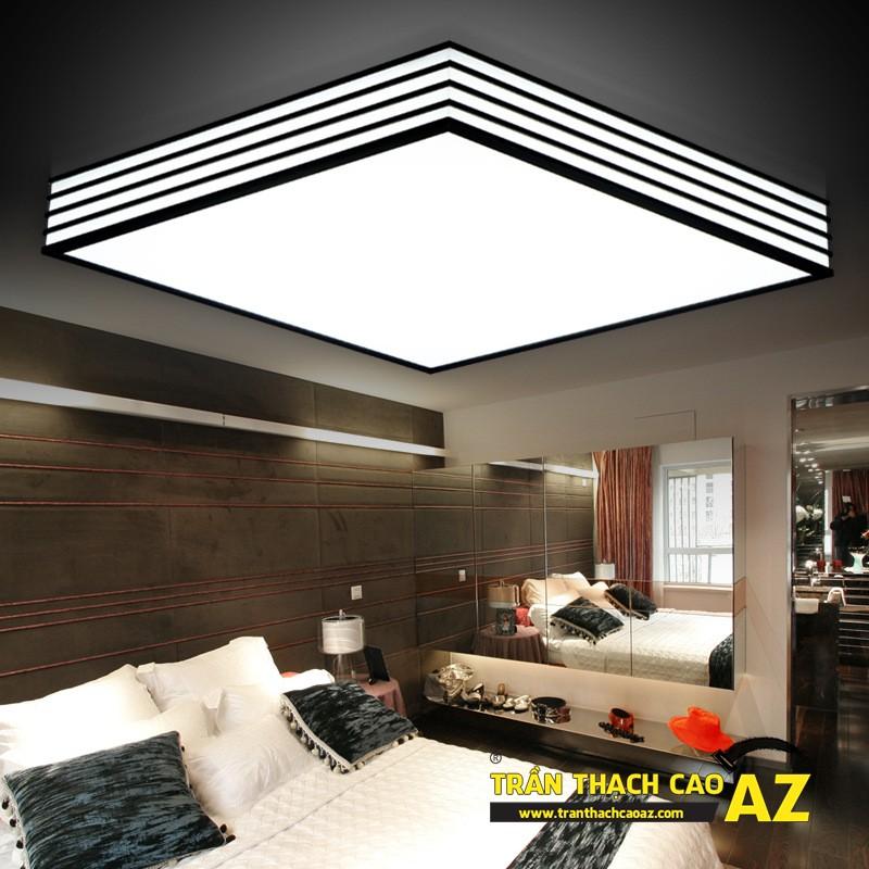 Mẫu đèn chùm trần thạch cao đẹp dành riêng cho trần đơn giản 01
