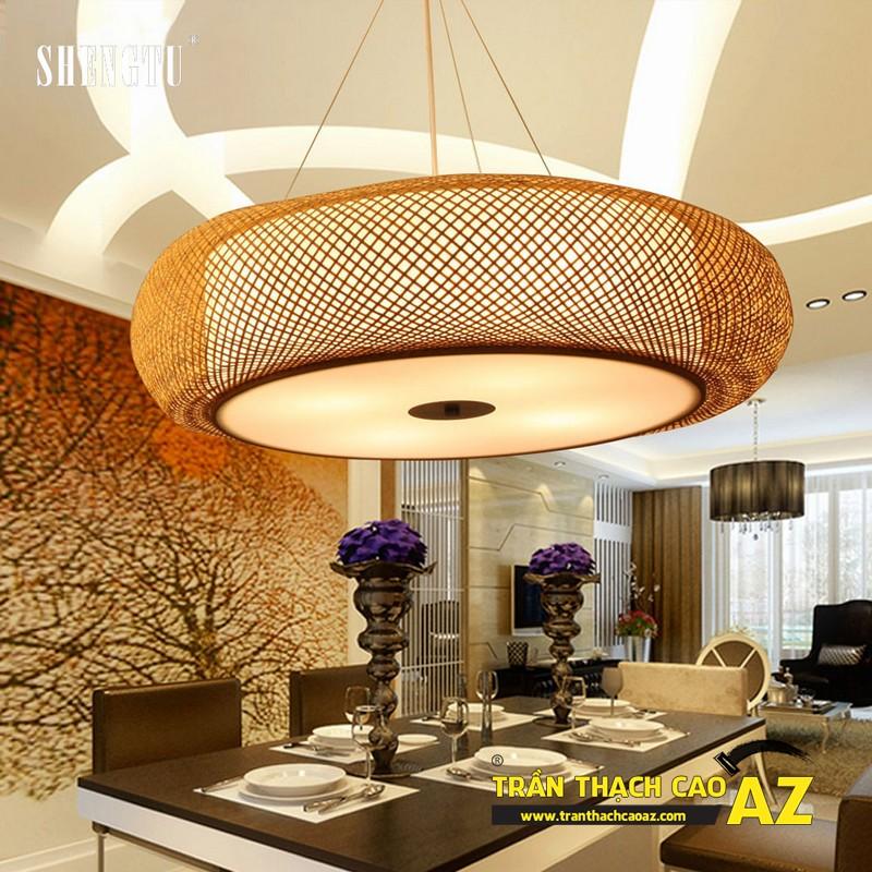 Mẫu đèn chùm trần thạch cao đẹp dành riêng cho trần đơn giản 08