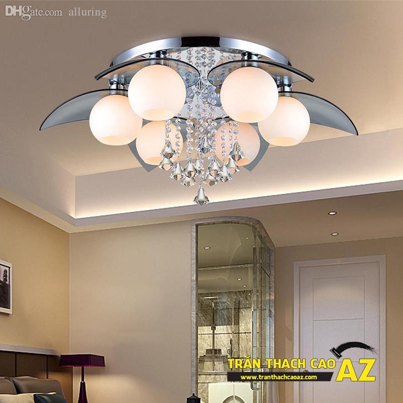 Mẫu đèn chùm trần thạch cao đẹp dành riêng cho trần đơn giản 11