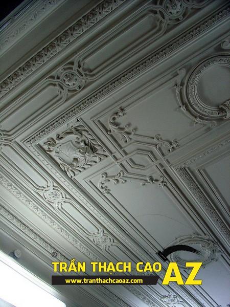 Mẫu phào chỉ hoa văn đẹp cho trần nhà thạch cao