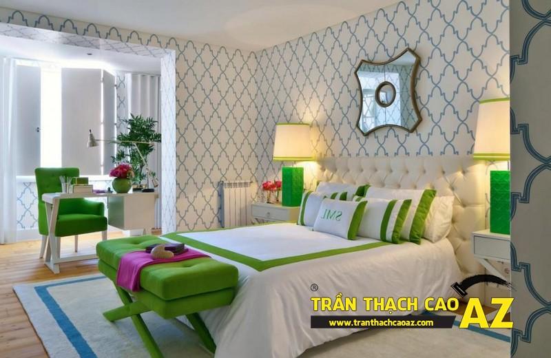 Mẫu trần thạch cao đơn giản mà đẹp dành cho không gian phòng ngủ 01
