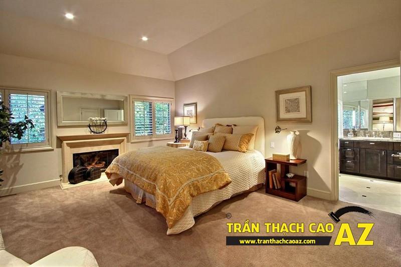 Mẫu trần thạch cao đơn giản mà đẹp dành cho không gian phòng ngủ 03