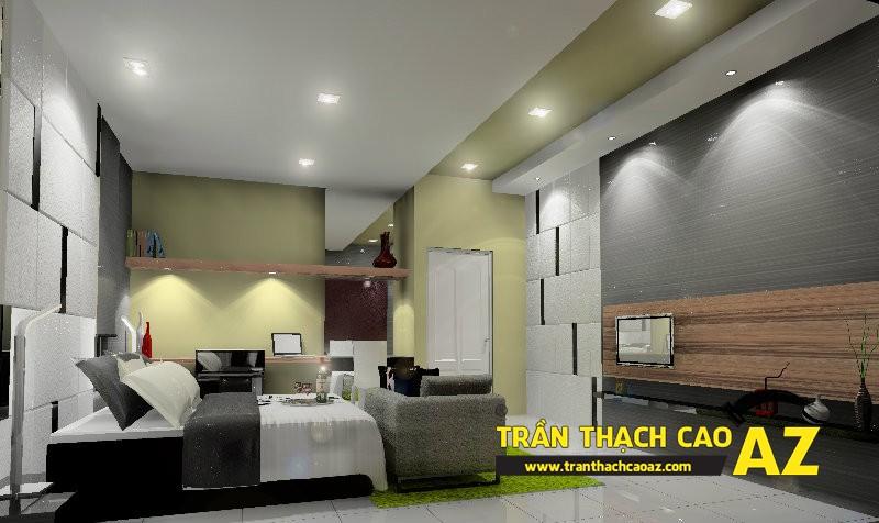 Mẫu trần thạch cao đơn giản mà đẹp dành cho không gian phòng ngủ 05
