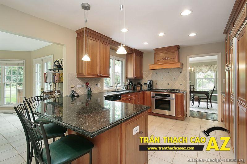 Mẫu trần thạch cao đơn giản mà đẹp dành cho không gian phòng bếp, phòng ăn 02