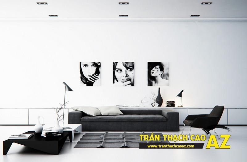 Mẫu trần thạch cao đơn giản mà đẹp cho phòng khách hiện đại -04