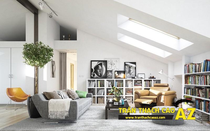 Mẫu trần thạch cao đơn giản mà đẹp cho phòng khách hiện đại -10