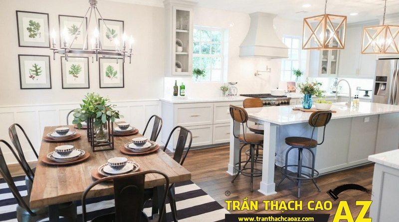 Các mẫu trần thạch cao phòng bếp đẹp nhất 2016